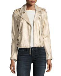 Joie   Leolani Metallic Leather Jacket   Lyst