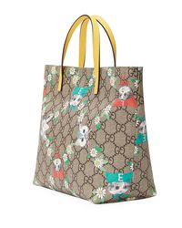 Gucci - Natural Girls' Gg Supreme Pets Tote Bag - Lyst