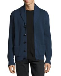 Tom Ford | Blue Wedgewood Ribbed Wool Cardigan for Men | Lyst
