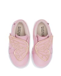 Sophia Webster - Pink Bibi Embroidered-butterfly Low-top Sneaker - Lyst