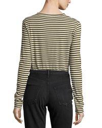 Vince - Multicolor Midi Striped Long-sleeve Tee - Lyst