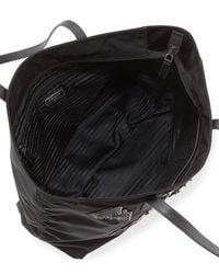 Prada - Black Medium Nylon Robot Tote Bag - Lyst