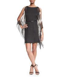 Halston Heritage - Black Kimono-sleeve Caftan Dress - Lyst