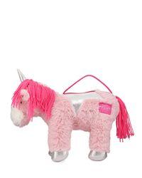 Joules - Pink Girls' Plush Unicorn Shoulder Bag - Lyst