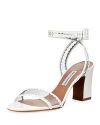 Tabitha Simmons - White Leticia Frill Block-heel Sandal - Lyst