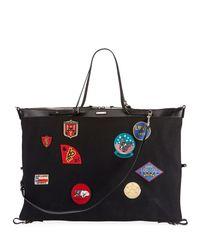 Saint Laurent - Black Men's Large Canvas Patch Satchel Bag for Men - Lyst