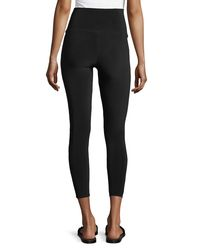 Norma Kamali - Black Cropped High-waist Leggings - Lyst