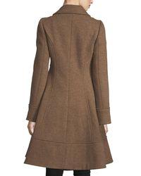 Nanette Lepore - Multicolor Grace Studded Zip-front Wool Pea Coat - Lyst