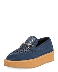 Stella McCartney - Blue Brody Woven Denim Loafer - Lyst