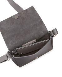 Brunello Cucinelli - Gray Leather Monili Tassel Shoulder Bag - Lyst