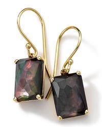 Ippolita | Metallic 18k Gold Rock Candy Gelato Black Shell Earrings | Lyst