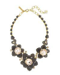 Oscar de la Renta - Metallic Faceted Resin Flower Statement Necklace - Lyst