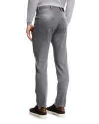 Ermenegildo Zegna Gray Straight-leg Stretch-denim Jeans for men