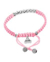 Lagos | Pink Kinder Sterling-silver Macrame Bracelet | Lyst