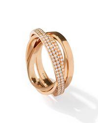 Repossi - Metallic Technical Berbère Diamond Ring In 18k Rose Gold - Lyst