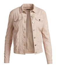 ATM - Natural Leather Button-front Jacket - Lyst