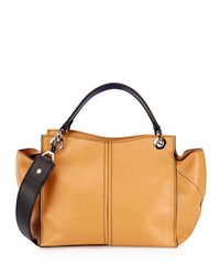 Proenza Schouler Natural Curl Smooth Leather Satchel Bag