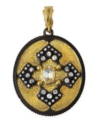 Armenta - Metallic Old World Iris Shield Enhancer Pendant - Lyst