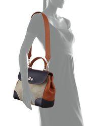 Ralph Lauren - Brown Tiffin 29 Colorblock Top Handle Bag - Lyst