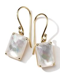 Ippolita | Metallic 18k Gold Rock Candy Gelato Single Rectangle Drop Earrings | Lyst