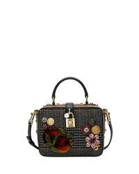 Dolce & Gabbana - Black Dolce Soft Plaid Top-handle Bag - Lyst