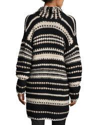Iris Von Arnim | Black Hand-knit Long Open Cardigan | Lyst