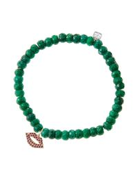 Sydney Evan - Green Design Your Own Bracelet (made To Order) - Lyst