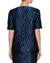 Marni - Blue Zebra Short-sleeve Top - Lyst