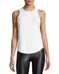 Koral Activewear - White Aerate Performance Mesh Tank - Lyst