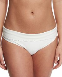 Heidi Klein | White Ostuni Scalloped Fold-over Swim Bottom | Lyst