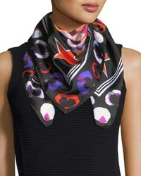 Givenchy   Multicolor 74 & Flowers Silk Swill Square Scarf   Lyst