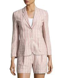 ATM - Pink Cotton Linen School Boy Blazer - Lyst