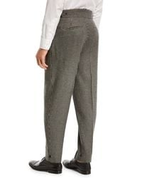 Zegna Sport Gray Jacquard Check Trousers for men