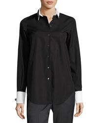 N°21 - Black Cordova Button-front Embellished Shirt - Lyst