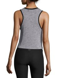 Koral Activewear - Gray Crescent Sleeveless Crop Top - Lyst