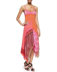 Jean Paul Gaultier   Orange Patchwork Handkerchief Slip Dress   Lyst