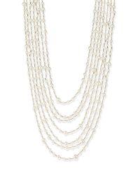 Rosantica | White Pegaso River Pearl 7-strand Necklace | Lyst