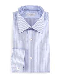 Charvet | Purple Striped Barrel-cuff Dress Shirt for Men | Lyst