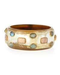 Ashley Pittman | Metallic Kuwasha Light Horn Bangle | Lyst