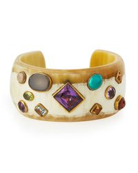 Ashley Pittman - Metallic Shinda Cuff With Stones - Lyst