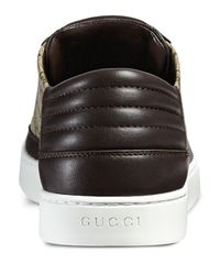Gucci | Brown Gg Supreme Leather Low-top Sneaker for Men | Lyst