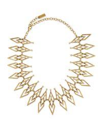 Auden | Metallic Dakota Brass Statement Necklace | Lyst