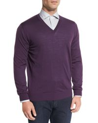 Ermenegildo Zegna | Purple High-performance Wool Sweater for Men | Lyst
