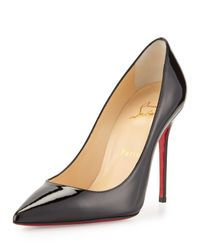 Christian Louboutin | Black Decollette Pointed-toe Red Sole Pump | Lyst