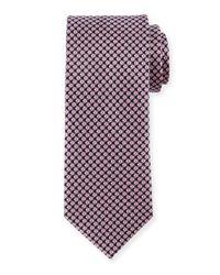Brioni | Pink Diamond-print Silk Tie for Men | Lyst
