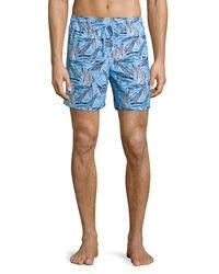 Vilebrequin | Blue Moorea Sailboat-print Swim Trunks for Men | Lyst