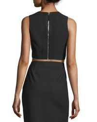 Elizabeth and James - Multicolor Bowen Sleeveless Crepe Cropped Top - Lyst