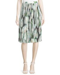 Adam Lippes | Multicolor Micro-pleated Silk Skirt | Lyst