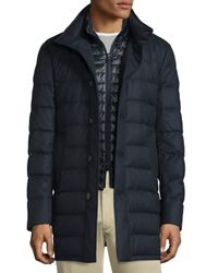 Moncler | Blue Vallier Quilted Down Coat for Men | Lyst