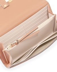Chloé - Brown Marcie Continental Flap Wallet - Lyst